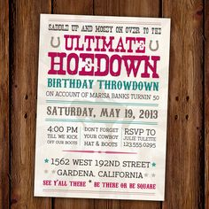 Rockin' D Summer Hoedown on Pinterest | Square Dance, Bat Mitzvah ...