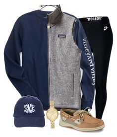 """""""extra preppyyy :)"""" by sydneygrignon on Polyvore featuring NIKE, Patagonia, Sperry and Kate Spade"""