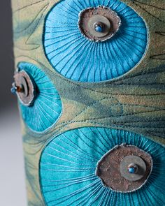 """Trisha Hassler textile artist """"Tell Me Only The Truth"""" - detail"""