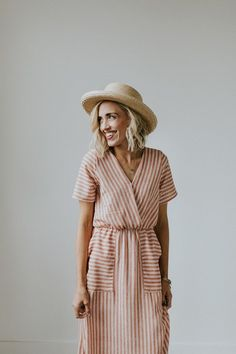 Mauve Striped Max Dress | ROOLEE