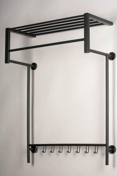 Discover recipes, home ideas, style inspiration and other ideas to try. Metal Storage Racks, Metal Shelves, Metal Furniture, Diy Furniture, Furniture Design, Garderobe Design, Japanese Bedroom, Tube Acier, Barbershop Design