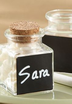 i just pinned this because my name is spelled the right way ;) personalized jars