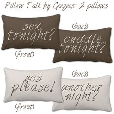 Bedroom - Cute I am assuming this would take the guess work out of it!  Bedroom Pillows Sex Tonight?
