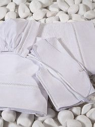 Oil sheet (lathopano) by Lina Baby. Includes sheet, towel and basic undergarments in ekcru and white. The decoration in the towel and in the sheet consists of a linen cloth with perforated braid. The undergarments include a vest, shorts and a triangle cap Greek Islands, Baby, Anna, Greek Isles, Newborn Babies, Infant, Baby Baby, Doll, Babies
