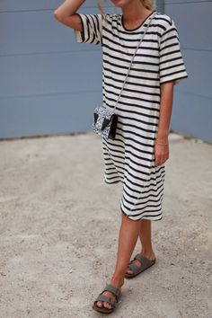 {Striped dress.}
