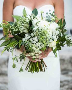 Juniper Designs -- To stay within your budget, Alison Fleck suggests using expensive flowers, such as peonies, only for the wedding party and filling centerpieces with cost-friendly options, like some rose varieties. Green Wedding, Floral Wedding, Rustic Wedding, Diy Wedding, Rose Varieties, Floral Event Design, Bride Bouquets, Bouquet Wedding, Bridesmaid Bouquet