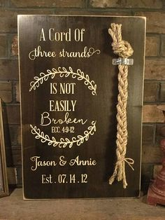 Wedding Braid Cord Of Three Strands God's Knot Unity