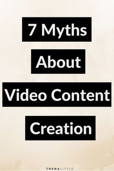 There are so many misconceptions when it comes to creating video content!  It will take all my time!  I need fancy equipment! I have to look good to be on camera!  I'm debunking all these thoughts!  Click here to read why all of these thoughts are HUGE myths!