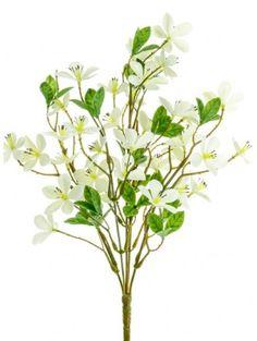 Artificial - Plum Blossom Spray - Cream