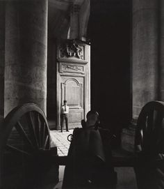 Max Dupain (Born Australia 1911, died 1992) Untitled (cannon with a guard standing in a doorway) 1978 From The Paris 'private' series