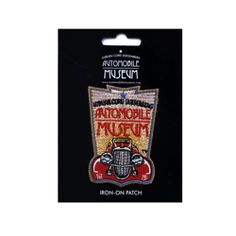Museum Logo Patch. Embroidered Auburn Cord Duesenberg Automobile Museum logo iron-on patch. Measures 3 inches tall by 2 inches wide. Simply use a hot iron with light steam and place the patch onto a garment. Color fast. ACD Automobile Museum Auburn, IN
