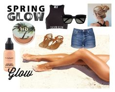 """""""I Know I Got that Glow"""" by jakbro ❤ liked on Polyvore featuring beauty, Urban Decay, MAC Cosmetics, Calvin Klein, Yves Saint Laurent, Topshop and springglow"""