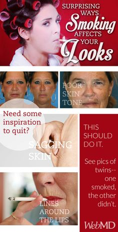 You can't ignore this evidence that smoking affects the way you look.