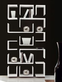 Lacquered modular #bookcase KAOS by F2 FORM AND FUNCTION