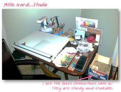 Mini studio...  http://endofmybrush.blogspot.com/