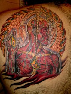 14 Vibrant and Detailed Psychedelic Tattoos Inspired by Alex Grey Diy Tattoo, Tool Tattoo, Tattoo Ideas, Tattoo Art, Alex Gray Art, Grey Art, Alex Grey Tattoo, Psychedelic Tattoos, State Tattoos
