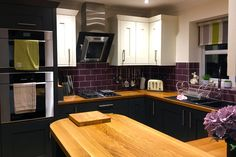 An Innova Malton Painted Graphite Kitchen