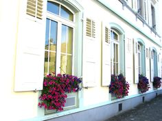 Don't Miss The Windows Of The Swiss - Blindsgalore Blog - #Windowboxes are beautiful accents to a home in the summer.