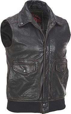 Marc New York Ramda Leather Biker Jacket - #WilsonsLeather #Bikergear #Vest