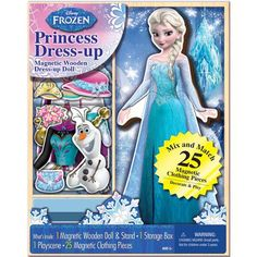 Disney Frozen Wooden Magnetic Play Set, Elsa, 25-Piece