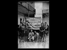 spanish civil war tuc lobby.022(original caption).  British Antifascist Brigade ( Communist) Tom Mann. Spanish Civil War.