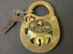 antique cutout padlock