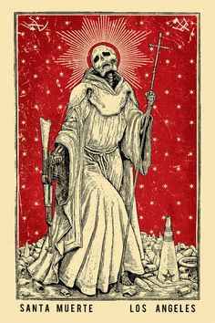 La Santa Muerte by by Ravi Zupa black portion printed carved into traffic cone as plate