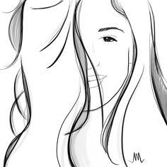 beauty and hair girl illustration
