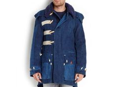 This military-inspired parka is made from vintage French linens and deadstock Italian Navy blankets dip-dyed in indigo.