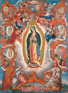 Virgin of Guadalupe Sebastián Salcedo, Mexican;Virgin of Guadalupe; 1779. Denver Art Museum