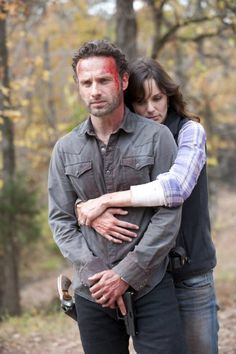Still of Andrew Lincoln and Sarah Wayne Callies in The Walking Dead (2010)