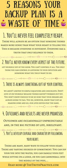 CLICK THE PIN TO READ ALL 10 reasons to always pursue your dreams. Thinking about giving up on your dreams? Before you make that choice, read this. Stop relying on a backup plan, and give your dreams the respect they deserve. Reach your goals, and live the life you've always wanted. Go to TheTruthPractice.com to read about inspiration, authenticity, happy living, manifestation, getting rid of fear, intuition, self-love, self-care, words of wisdom, relationships, affirmations, & mantras.