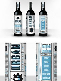 pairing suggestions incorporated into the design. fun type treatments.