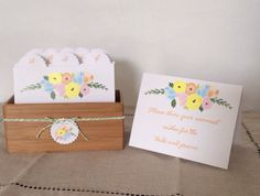 Wedding Guest Book Box Rustic Floral by LarksAndCake on Etsy