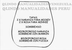 Q'LINDO Manualidades: MOLDES CARTERITA DE MINNIE MOUSE