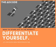 By differentiating yourself, you increase your chances of leading the market.Building a brand requires a perfect strategy and the right approach.  Reach us at  🌎www.theadcode.com 📩 info@theadcode.com   #TheAdCode #MarketingAgency #Brandbuilding #theadvice #sme #insight #bizgrowth #startupindia #entrepreneurship #searchmarketing #sem #smb #marketing #entrepreneur #payperclick #ppc #digitalmarketing #entrepreneur #smallbusiness #business #smallbiz #marketing #makeinindia