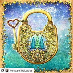 Maravilhoso! By @hulya.senhelvacilar  #florestaencantada  #enchantedforest  #johannabasford  #jardimsecreto  #selvamagica  #magicaljungle