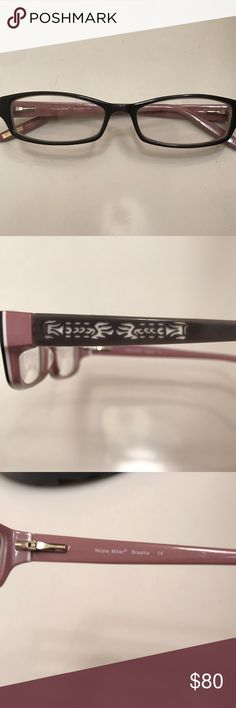Nicole Miller prescription glasses frame Dark gray/light gray/light purple plastic frames Nicole Miller Accessories Glasses