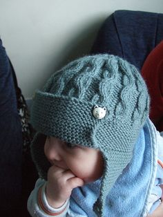 Cabled Flying Helmet  by Sublime Yarns    Published in  Sublime #612, The Third Little Sublime Hand Knit Book