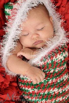 This darling Christmas baby bunting was photographed by http://www.facebook.com/#!/pages/Melanies-Photo-Shoppe-Photography/349986673226?fref=ts