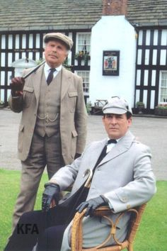 """Looks like the nice weather didn't kill Holmes after all >.< PR pose from """"The Boscombe Valley Mystery""""."""