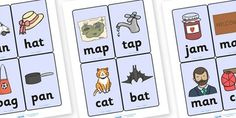 Twinkl Resources >> CVC Word Cards (a)  >> Classroom printables for Pre-School, Kindergarten, Primary School and beyond! CVC, CVC word, three phoneme words, three sound words, consonant vowel consonant, words, three letter words, letters and sounds, DfES, DfES letters, letters and sounds, cat, bat, rhyme, phase 2, words and vocab, visual aids,