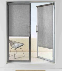 1000 images about roller shades on pinterest roller for Roller screens for french doors