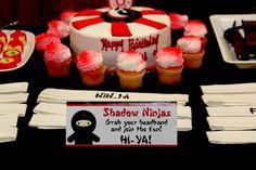 Ninja Birthday Party Ideas | Photo 4 of 38 | Catch My Party