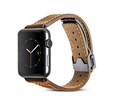 Monowear brown leather deployant band - Apple Watch