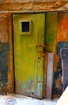 A History of Colors on an ancient Door in Malta's Capital City, Valletta.