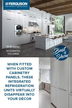When Fitted With Custom Cabinetry Panels, Sub Zero Integrated Columns  Virtually Disappear Into Your