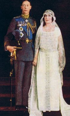 Prince Albert and Lady Elizabeth Bowes Lyon - later King George VI and Queen Elizabeth. ...Much later Colin Firth and Helena Bonham Carter. ;)