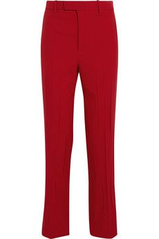 Gucci Stretch wool and silk-blend straight-leg pants | NET-A-PORTER