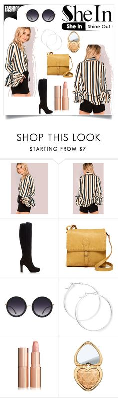 """""""https://goo.gl/4lgfKf"""" by christinadrussell ❤ liked on Polyvore featuring Dune, T-shirt & Jeans, Alice + Olivia, claire's, Too Faced Cosmetics and shein"""